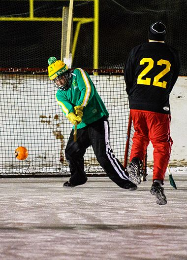 Broomball at McRae 2