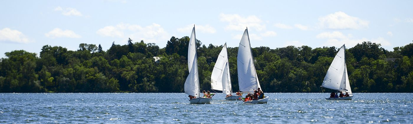 sailing on lake harriet