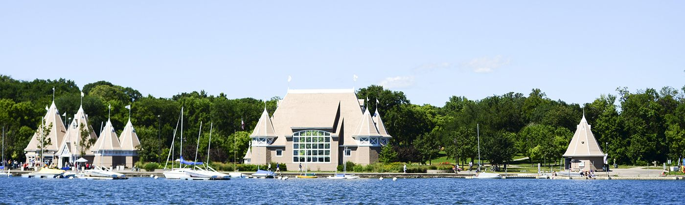 lake harriet bandshell and sailboats