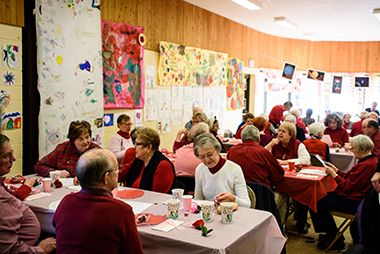 Senior Valentines Lunch at Audubon