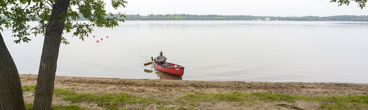 canoeing on lake harriet