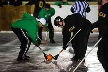 Broomball at McRae 3