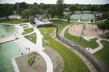 Webber Park_ Pool and Playground Aerial