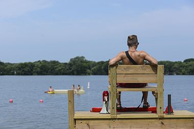 Lake Nokomis_Main Beach_lifeguard