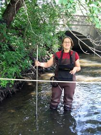 measuring in minnehaha creek