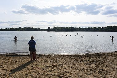 Cedar Lake_East Beach_lifeguard