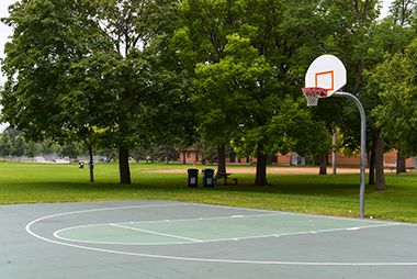 Basketball court at Armatage Park