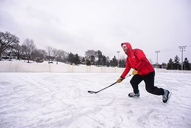 Hockey on Ice Rink