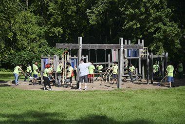 Bassetts Creek Playground Teen Teamworks Crew