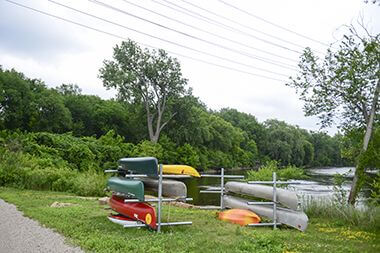 Canoes on Boat Rack