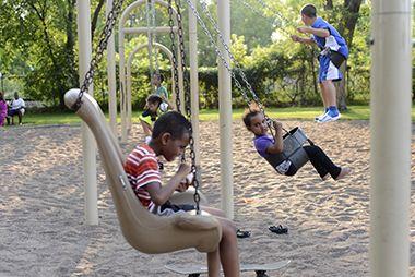 handicap swing in playground