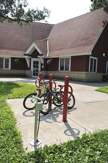 Bike Racks and Bike Pump