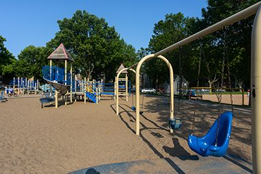 Playground with handicap swings