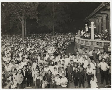 Community Sing at Logan Park, 1900-1920