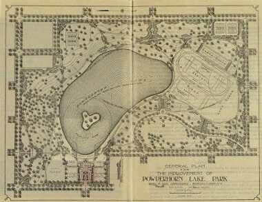 General plan for the improvement of Powderhorn Lake Park, 1921