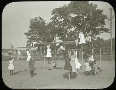 Girls' outdoor gymnasium, 1900-1930