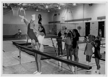 Gymnastics class at Matthews Park, 1979