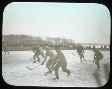 Hockey rink at Lake of the Isles, 1900-1930