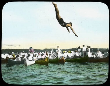 Lake Harriet diving, 1900-1930
