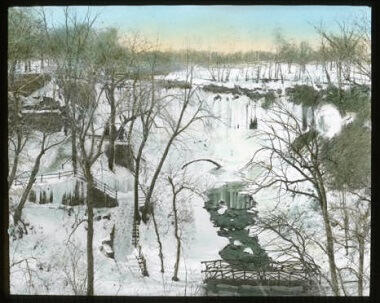 Minnehaha Falls in the winter, 1900-1930