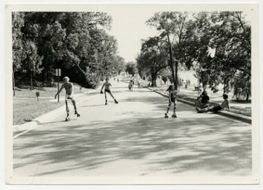 Rollerskating on West Side of Lake Calhoun Parkway, Aug. 3, 1980