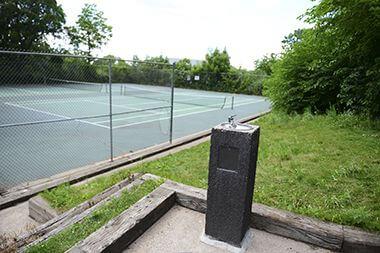Tennis Court & Drinking Fountain