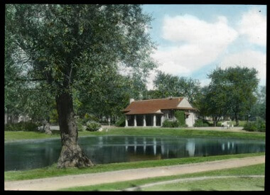 Van Cleve Park shelter building, 1900-1930