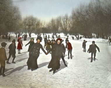 Ice Skating in Van Cleve Park in 1901