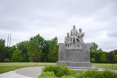 The Pioneer Statue at B.F. Nelson Park