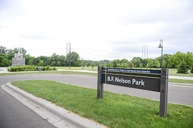 B.F. Nelson Park Sign