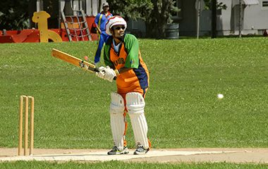 Cricket field youth sport
