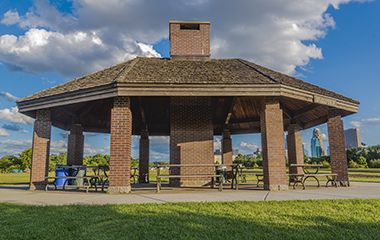 covered picnic shelters