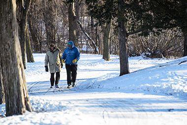 Cedar Lake Trail in Winter