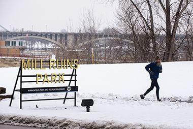 Winter in Mill Ruins Park