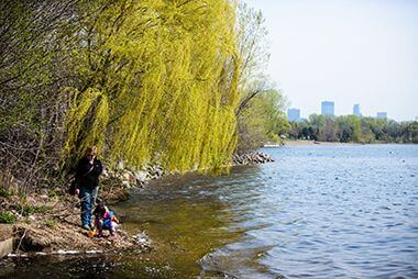 Cleanup at Lake Calhoun