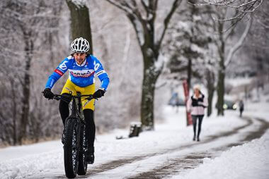 Winter Biking Trails