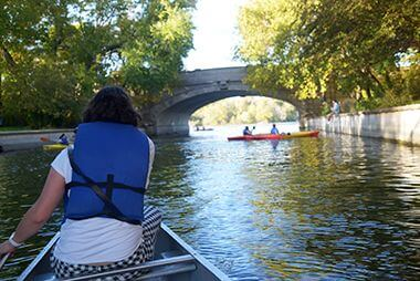 Canoeing through Canals