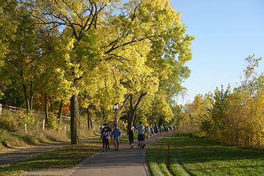 Biking and walking trails