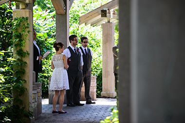 Weddings at Minnehaha Falls Pergola Garden