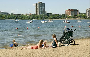lake calhoun 32street beach - lake calhoun beach club wedding
