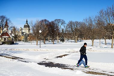 Loring Park in Winter