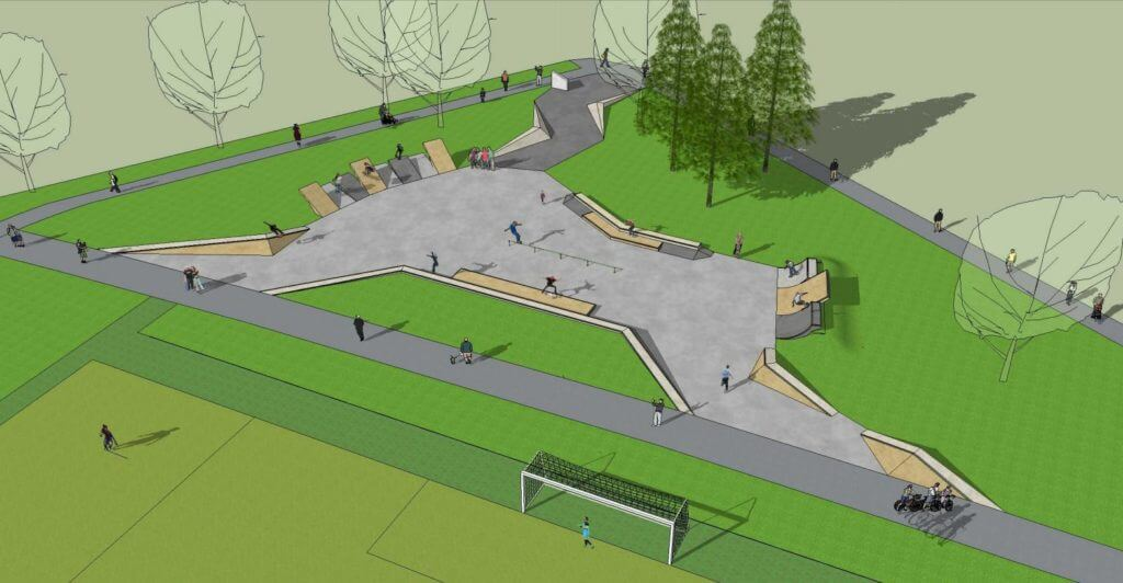Expanded skate park and lighting coming soon at Elliot Park
