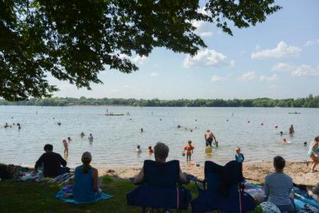 Photo of the Lake Nokomis 50th Street Beach.