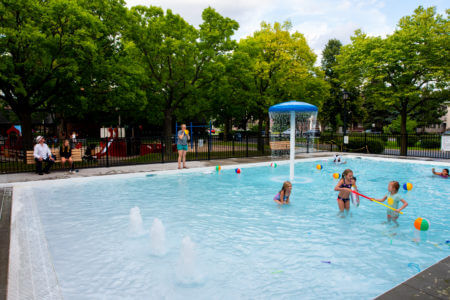 Logan Park Wading Pool Grand Opening in Northeast Minneapolis