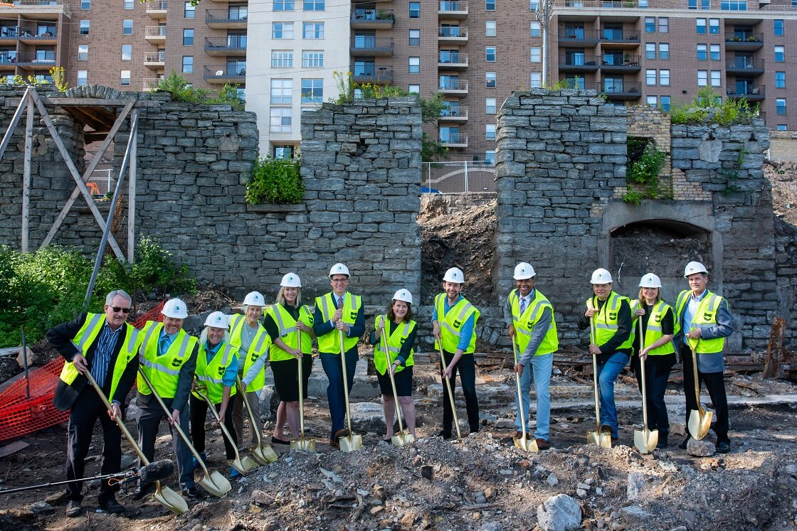 Community members gather to break ground on Water Works