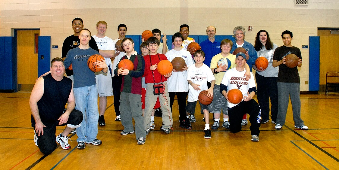 Special Olympics basketball team at Harrison Recreation Center