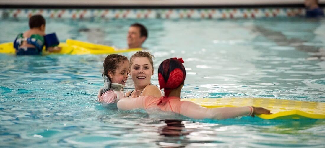 Adaptive swim lessons at Phillips Aquatics Center