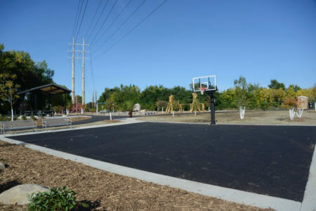 The Sheridan Memorial Park playground area after construction.