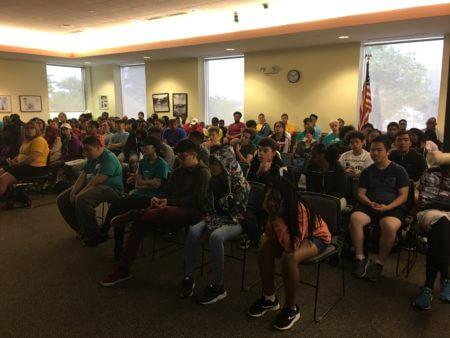 Teen Teamworks members at 2018 orientation.